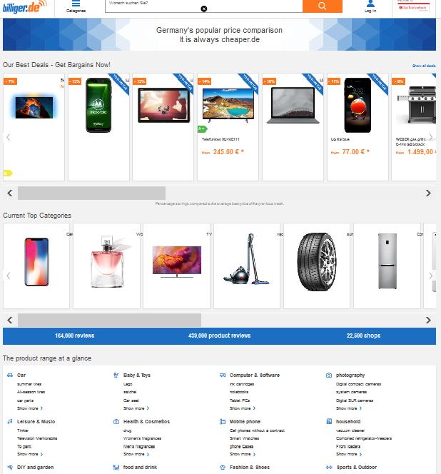 Google flattens German price comparison portals like